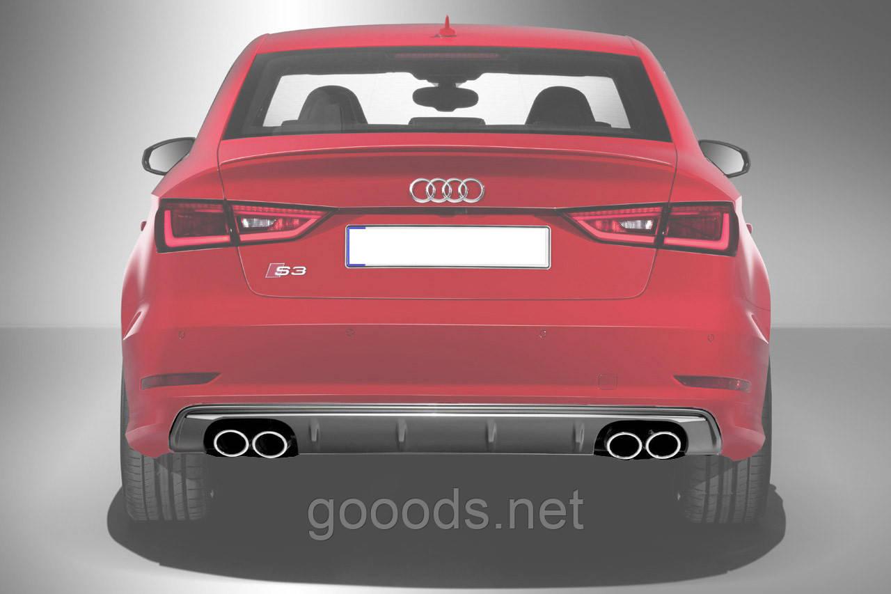 Накладка заднего бампера (диффузор) для Audi A3 S3 2012+