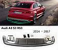 Накладка заднего бампера (диффузор) для Audi A3 S3 2012+, фото 2