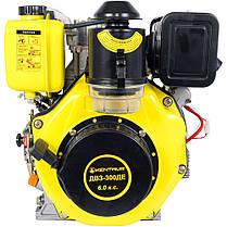 Двигатель дизельный Кентавр ДВУ-300ДЕ (6 л.с., шпонка. вал 25мм, электростарт), фото 3