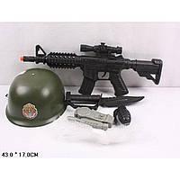 Военный набор 6313D-1  каска, автомат