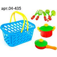 Посуда в корзинке, 7 предметов, арт. KW-04-435