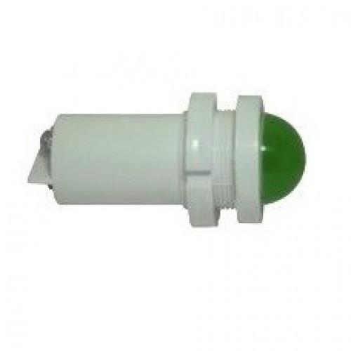 Лампа СКЛ14Б-Л-2-220 Ø 22 Зеленая