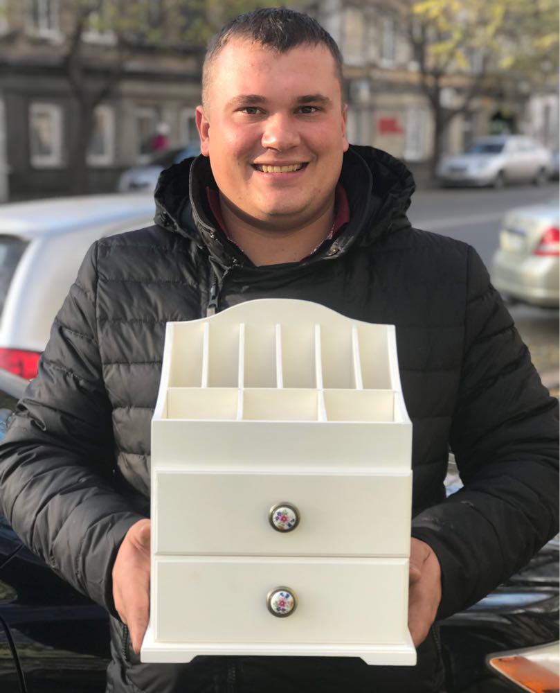 Деревянный органайзер для косметики - Family Toys Производственная компания в Одессе