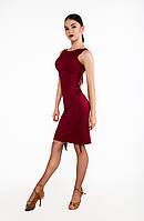 Платье с двухсторонней бахромой