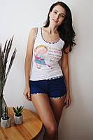 Трикотажный комплект майка и шорты Анабель Арто
