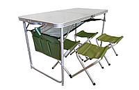 Стол складной + 4 стула складных Ranger RA 1102