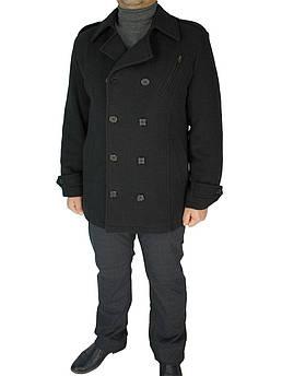 Чоловіче чорне пальто Bekatex BEK/1390