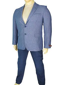 Чоловічий блакитний піджак Daniel Perry Strada C-B.2 великого розміру