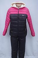 Теплый  лыжный женский  костюм на синтепоне Батал  50,52,54,56 от производителя