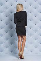Костюм с юбкой черный, фото 3