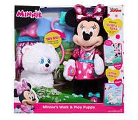 Игровой набор Минни Маус и щенок  Disney Minnie' s Walk & Play Puppy 13746