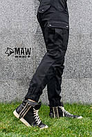 Брюки мужские милитари чёрные Maw Manandwolf карго(Cargo) pants cotton