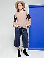 Женская нарядная блуза с кружевными вставками Manuela (разные цвета)