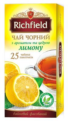 Чай черный с ароматом и цедрой лимона ТМ Richfield, 40г