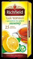 Чай черный с ароматом и цедрой лимона ТМ Richfield, 40г, фото 1