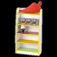 Детский игровой стеллаж-витрина