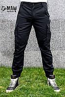 Штаны мужские милитари чёрные Maw Manandwolf карго(Cargo) pants cotton