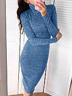 Теплое платье женское ангора-меланж