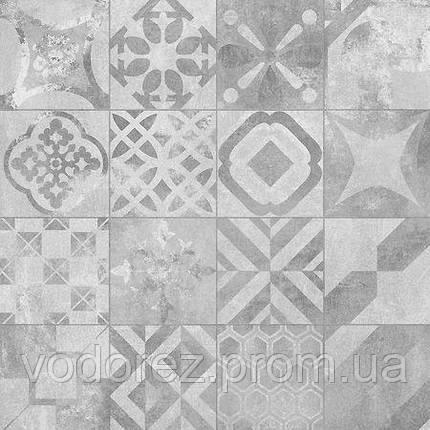 Плитка для пола Rondine J86828 VOLCANO CEMENTINE GREY RET 60х60 , фото 2