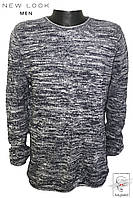 Джемпер New Look р. М 48-50 серый рябой мужской весенний демисезонный