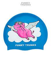 Силиконовая шапочка для плавания Funky Trunks Flying Pig