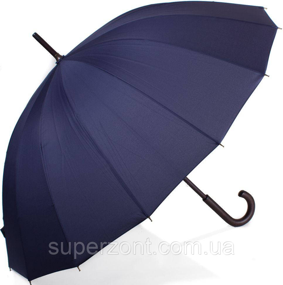 Зонт-трость механический мужской DOPPLER (ДОППЛЕР) DOP74163DMA, синего цвета