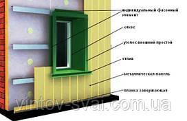 Откосы и отливы для вентилируемого фасада 20-210 мм