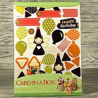 Оригинальный набор для изготовления 3-х поздравительных коробочек-открыток 3322414-2 (8509)