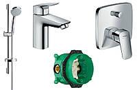 Набор скрытого монтажа для ванны Hansgrohe Logis (71100000+27772000+71405000+01800180)
