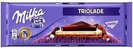 Молочный шоколад Milka Triolade 280g (Швейцария)