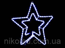 Световое украшение DELUX мотив STAR flash Синий