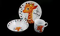 "Детский Набор Посуды ""Pretty Giraffe"" 3 Предмета (C389), фото 1"