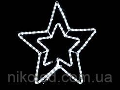 Световое украшение DELUX мотив STAR flash Белый