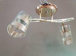Люстра стельова на 2 два поворотних плафона 537