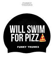 Силиконовая шапочка для плавания Funky Trunks Will Swim for Pizza