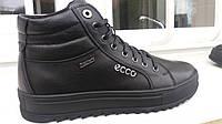 Ecco сhov мужские кожаные ботинки