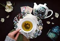 """Набор фарфоровой посуды с ручной росписью """"Алиса в стране чудес"""""""