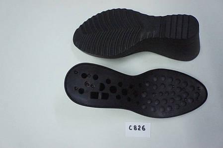 Подошва для обуви женская С 826 чорна р.36-37, фото 2
