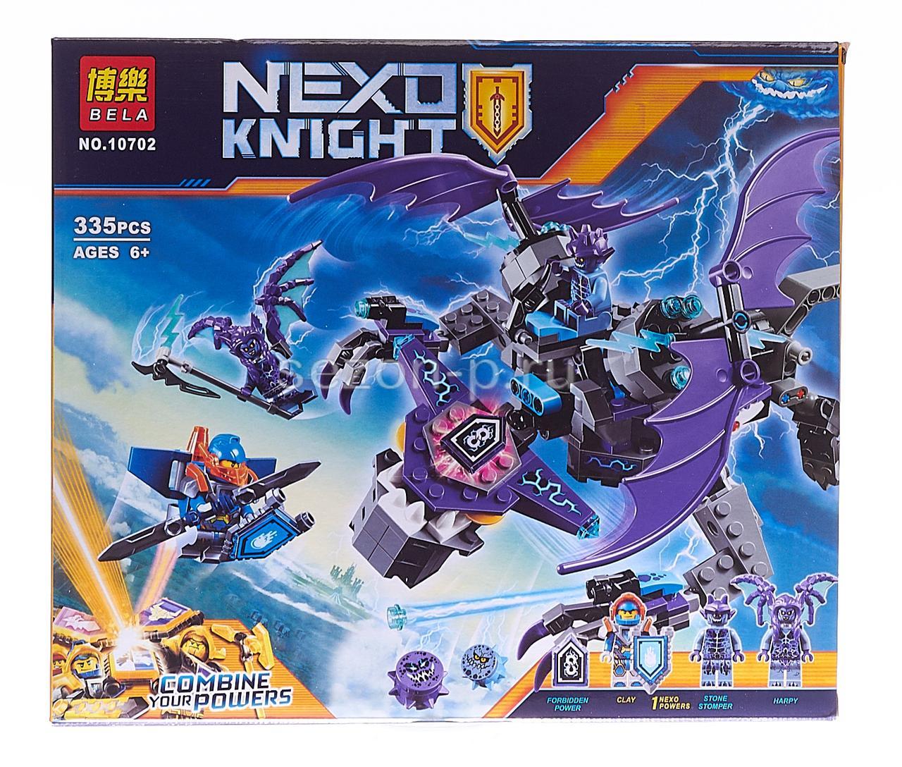 Конструктор Bela 10702 Nexo Knights Летающая Горгулья 335 деталей
