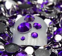 Стразы для ногтей 2-6 мм, 100 шт, фиолетовые