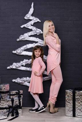 Костюм  женский туника и штаны персик, фото 2