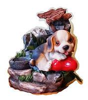 Фонтан Собака настольный декоративный комнатный собачка на дворике Размер 21=16=15