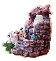 Фонтан Собака водный декоративный комнатный собачка на дворике Размер 21=16=15