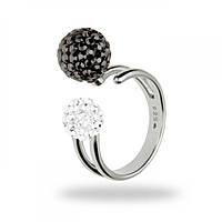 Серебряное женское кольцо с кристаллами Swarovski