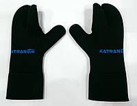 Рукавицы для подводной охоты KatranGun Hunter 5 мм; нейлон/открытая пора; защита на ладони дюратекс, фото 1