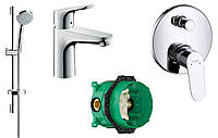 Набор скрытого монтажа для ванны Hansgrohe Focus (31607000+27772000+31945000+01800180)