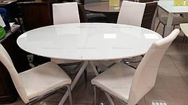 Стіл в сучасному стилі Венеція (В2400) TES Mobili, стільниця біла/ноги білі