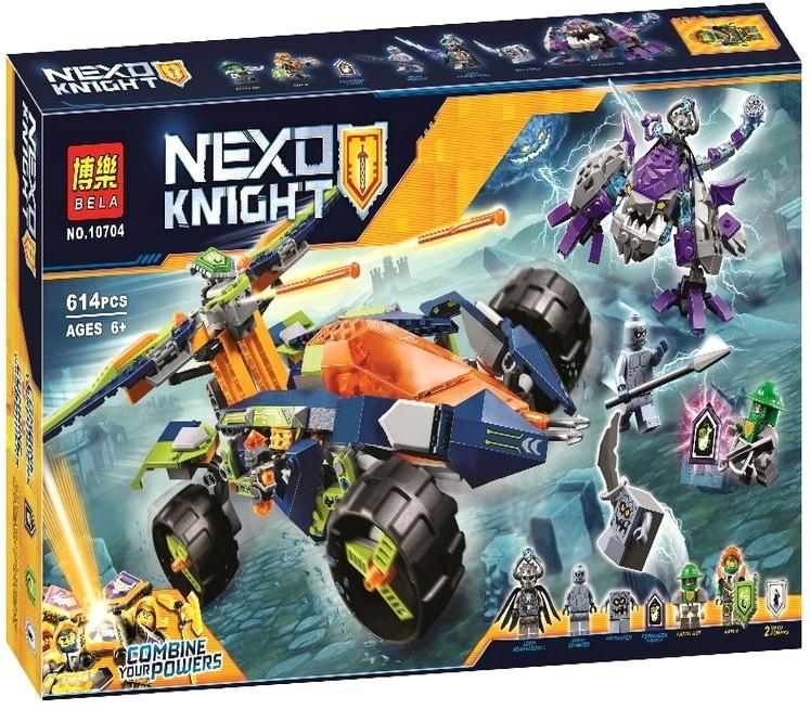 Конструктор Bela 10704 Nexo Knights Вездеход Аарона 4x4|614 деталей