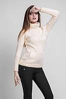 Удлиненный свитер в спортивно-элегантном стиле