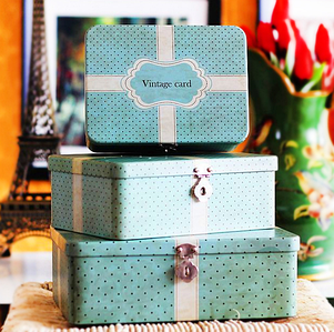 Жерстяні коробки декоративні